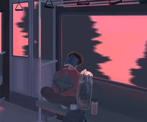 animation, pink, and trein image
