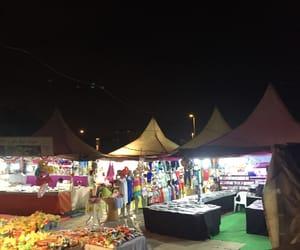 bazar, beach, and dark image