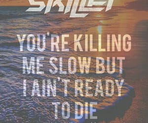 Lyrics, skillet, and circus for a psycho image