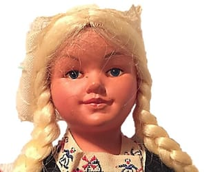 etsy, blonde doll, and 1950sdoll image