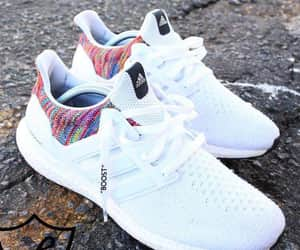 adidas, white, and boost image