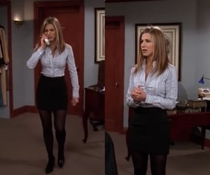 outfit, work attire, and rachel image