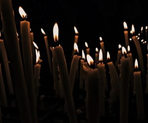 candle, dark, and Hot image