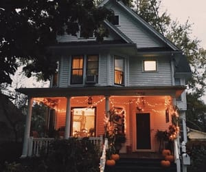 Halloween, house, and autumn image