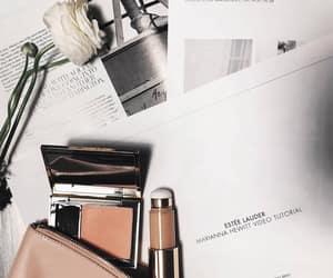 fashion, makeup bag, and makeup image