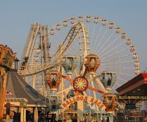 vintage, amusement park, and fun image