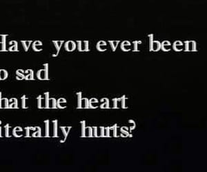depression, sad, and heart image