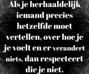nederlands, quote, and relatie image