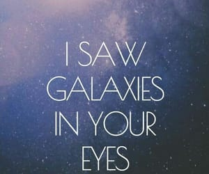 galaxy, eyes, and wallpaper image