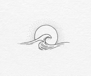 waves, sun, and art image
