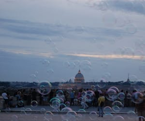 bubbles, magic, and sunset image