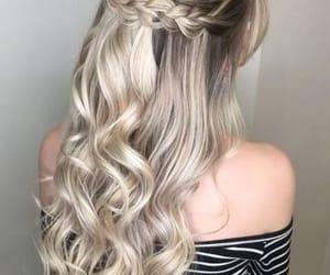 cabelo, cabelos, and penteados image