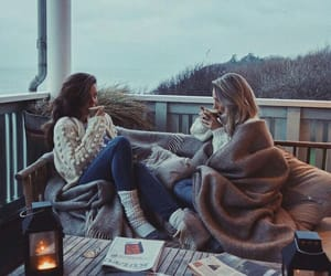 friends, cozy, and winter image