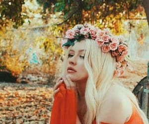 christina aguilera, flowers, and xtina image