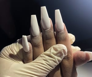acrylics, coffin shape, and long nails image
