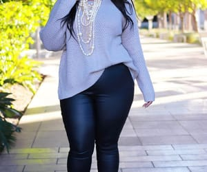 casual, plus size outfit, and modest outfit image