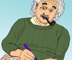 Albert Einstein, art, and arte image
