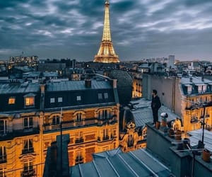 architecture, france, and light image
