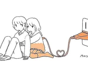love, couple, and anime girl image