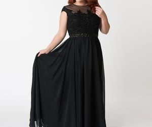 gown, modest, and plus size image
