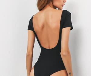 backless, bodysuit, and Hot image