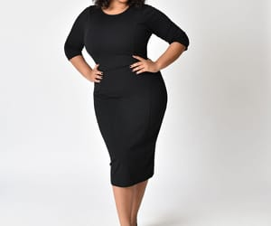 dress, modest, and plus size image