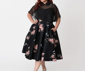 dress, floral dress, and plus size dress image