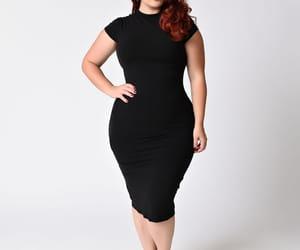 black dress, dress, and plus size dress image