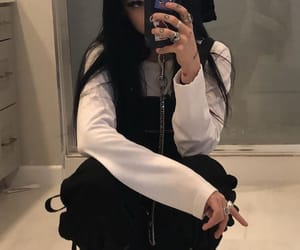 black hair, girls, and outfits image