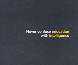 quotes, education, and intelligence image