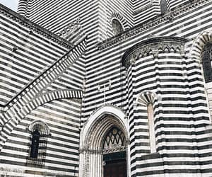architecture, black and white, and stripes image
