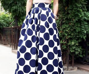 modest, polka dot skirt, and modest outfit image