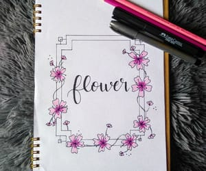 art, flower, and hand lettering image