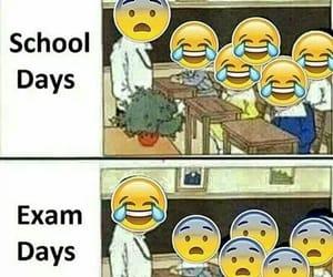 school, exam, and funny image