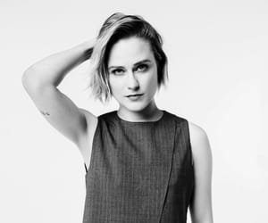 actress, black and white, and Evan Rachel Wood image
