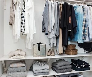 closet, clothes, and organized image