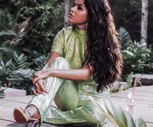 gomez, selena gomez, and green image