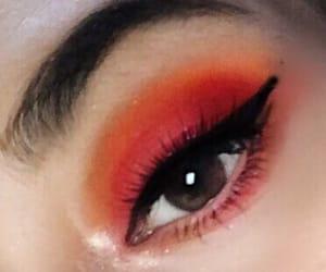 eye, eye shadow, and eyelashes image