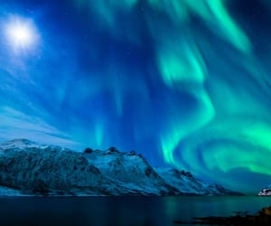northern lights, cold, and nature image