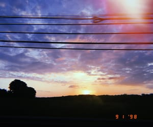 blue, clouds, and orange image