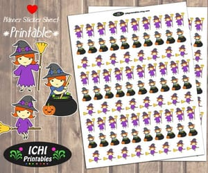 etsy, redhead, and halloween stickers image