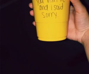 yellow, hurt, and sorry image