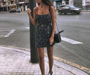 black dress, fashion, and look image