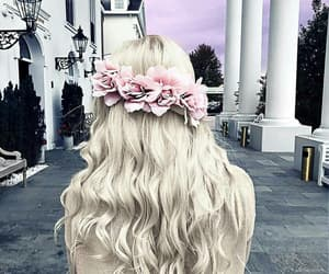 curls, hairs, and flowers image