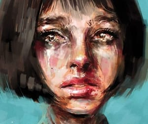 art, cry, and crying image