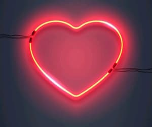 heart and neon light image
