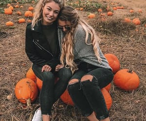 autumn, besties, and brown image