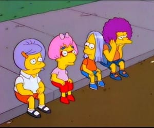 simpsons, squad, and wig image