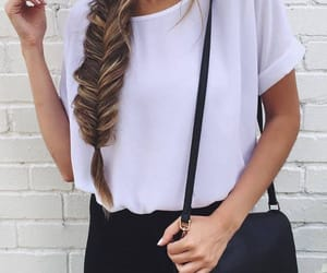 style, braid, and outfit image