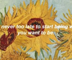 sunflower, quotes, and grunge image